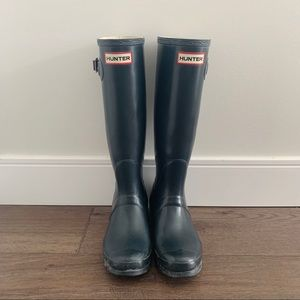 Original Hunter Tall Rain Boots (Navy)